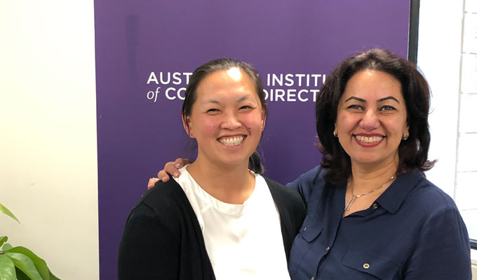 Entura's Sandra Thaow (left) and Fariba Jaffari (right)