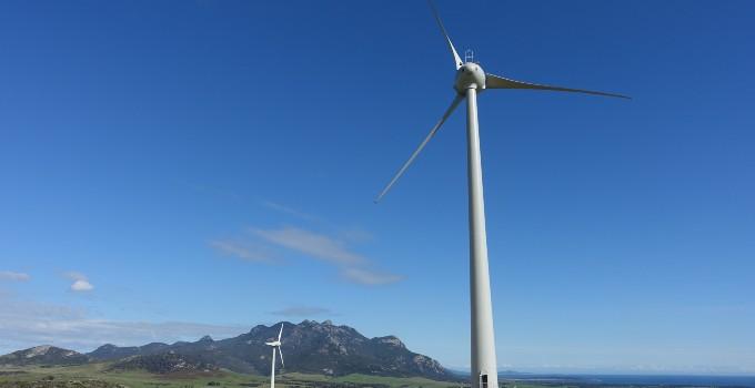 Turbines on Flinders Island.